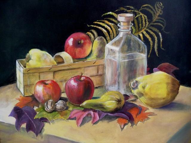 Spankorb mit Früchte
