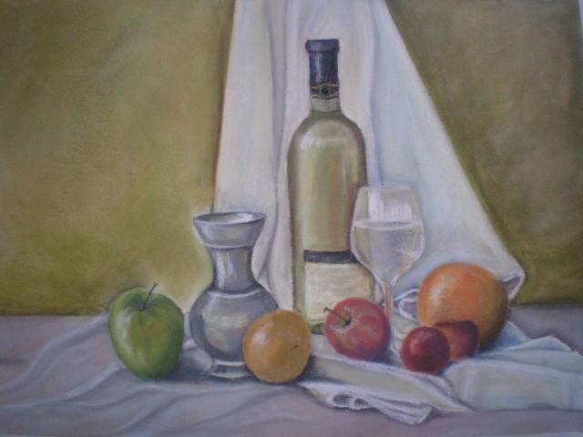 Wein mit Obst